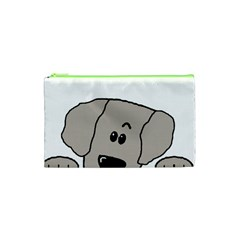 Peeping Weimaraner Cosmetic Bag (XS)