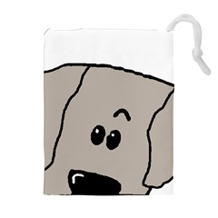 Peeping Weimaraner Drawstring Pouches (Extra Large)