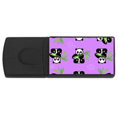 Panda Purple Bg USB Flash Drive Rectangular (1 GB)