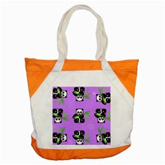 Panda Purple Bg Accent Tote Bag