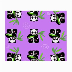Panda Purple Bg Small Glasses Cloth (2-Side)