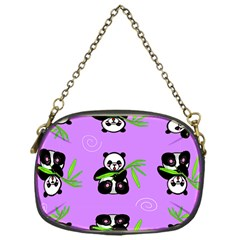 Panda Purple Bg Chain Purses (One Side)