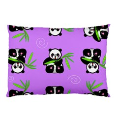 Panda Purple Bg Pillow Case