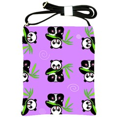 Panda Purple Bg Shoulder Sling Bags