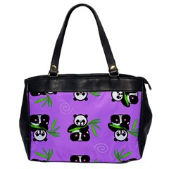 Panda Purple Bg Office Handbags