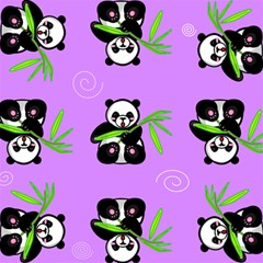 Panda Purple Bg Magic Photo Cubes