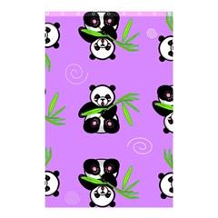Panda Purple Bg Shower Curtain 48  x 72  (Small)