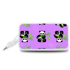 Panda Purple Bg Portable Speaker (White)