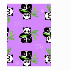Panda Purple Bg Large Garden Flag (Two Sides)
