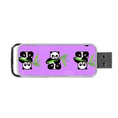 Panda Purple Bg Portable USB Flash (Two Sides)