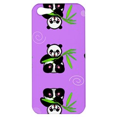 Panda Purple Bg Apple iPhone 5 Hardshell Case