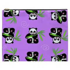 Panda Purple Bg Cosmetic Bag (XXXL)