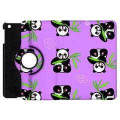 Panda Purple Bg Apple iPad Mini Flip 360 Case