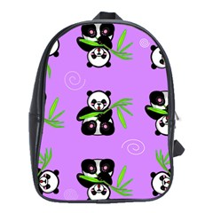 Panda Purple Bg School Bags (XL)