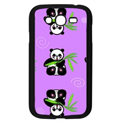 Panda Purple Bg Samsung Galaxy Grand DUOS I9082 Case (Black)