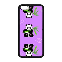 Panda Purple Bg Apple iPhone 5C Seamless Case (Black)