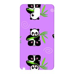 Panda Purple Bg Samsung Galaxy Note 3 N9005 Hardshell Back Case