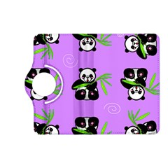 Panda Purple Bg Kindle Fire HD (2013) Flip 360 Case