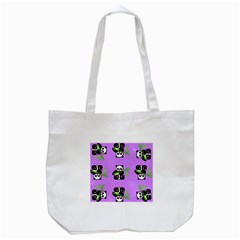 Panda Purple Bg Tote Bag (White)