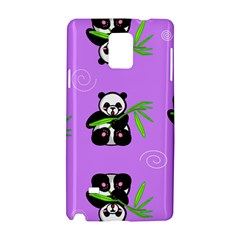 Panda Purple Bg Samsung Galaxy Note 4 Hardshell Case