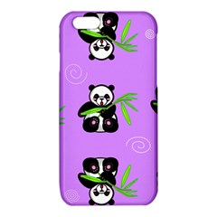 Panda Purple Bg iPhone 6/6S TPU Case