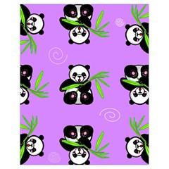 Panda Purple Bg Drawstring Bag (Small)