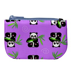 Panda Purple Bg Large Coin Purse