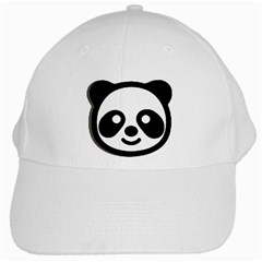 Panda Head White Cap
