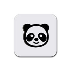 Panda Head Rubber Coaster (Square)