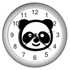 Panda Head Wall Clocks (Silver)