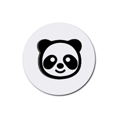 Panda Head Rubber Round Coaster (4 pack)