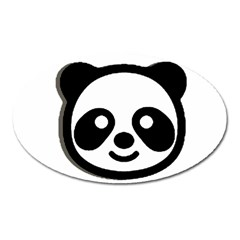 Panda Head Oval Magnet