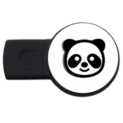 Panda Head USB Flash Drive Round (2 GB)