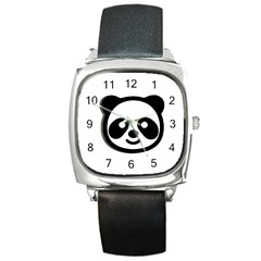 Panda Head Square Metal Watch