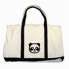 Panda Head Two Tone Tote Bag