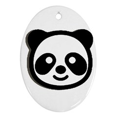 Panda Head Oval Ornament (Two Sides)