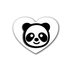 Panda Head Heart Coaster (4 pack)