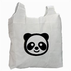 Panda Head Recycle Bag (One Side)