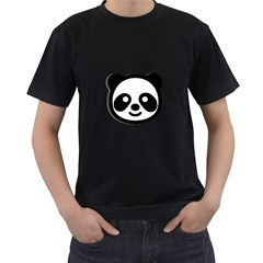 Panda Head Men s T-Shirt (Black)