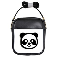 Panda Head Girls Sling Bags