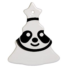 Panda Head Christmas Tree Ornament (Two Sides)