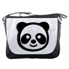 Panda Head Messenger Bags