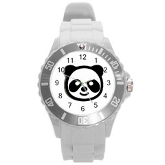 Panda Head Round Plastic Sport Watch (L)