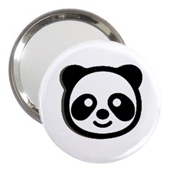 Panda Head 3  Handbag Mirrors