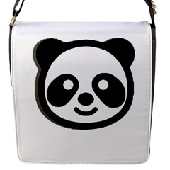Panda Head Flap Messenger Bag (S)