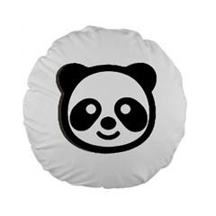 Panda Head Standard 15  Premium Flano Round Cushions