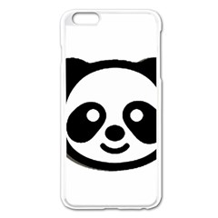 Panda Head Apple iPhone 6 Plus/6S Plus Enamel White Case