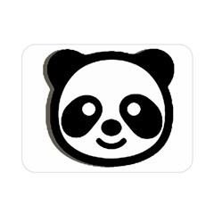 Panda Head Double Sided Flano Blanket (Mini)