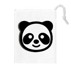 Panda Head Drawstring Pouches (Extra Large)