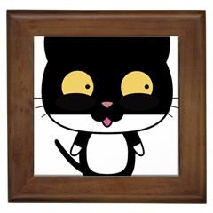 Panda Cat Framed Tiles